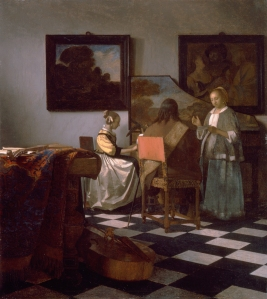 The concert, by Johannes Vermeer